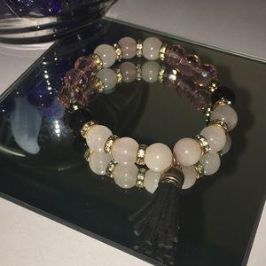 Jewelry - Healing Stone Bracelet with Tassel Charm